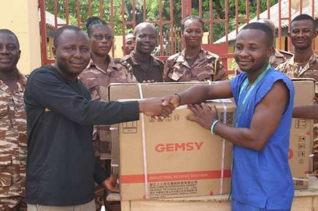 Crime Check Foundation supports inmate with industrial sewing machine
