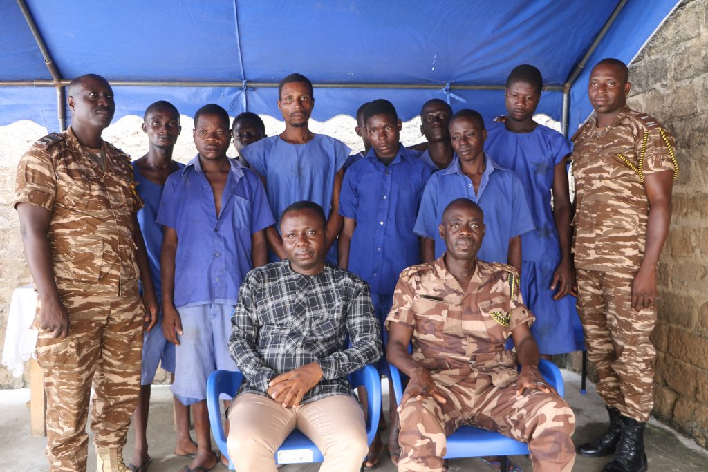 Management of Crime Check Foundation (CCF), an NGO through its Petty Offenders Project has paid the court fines of nine inmates of the Koforidua Local Prisons.