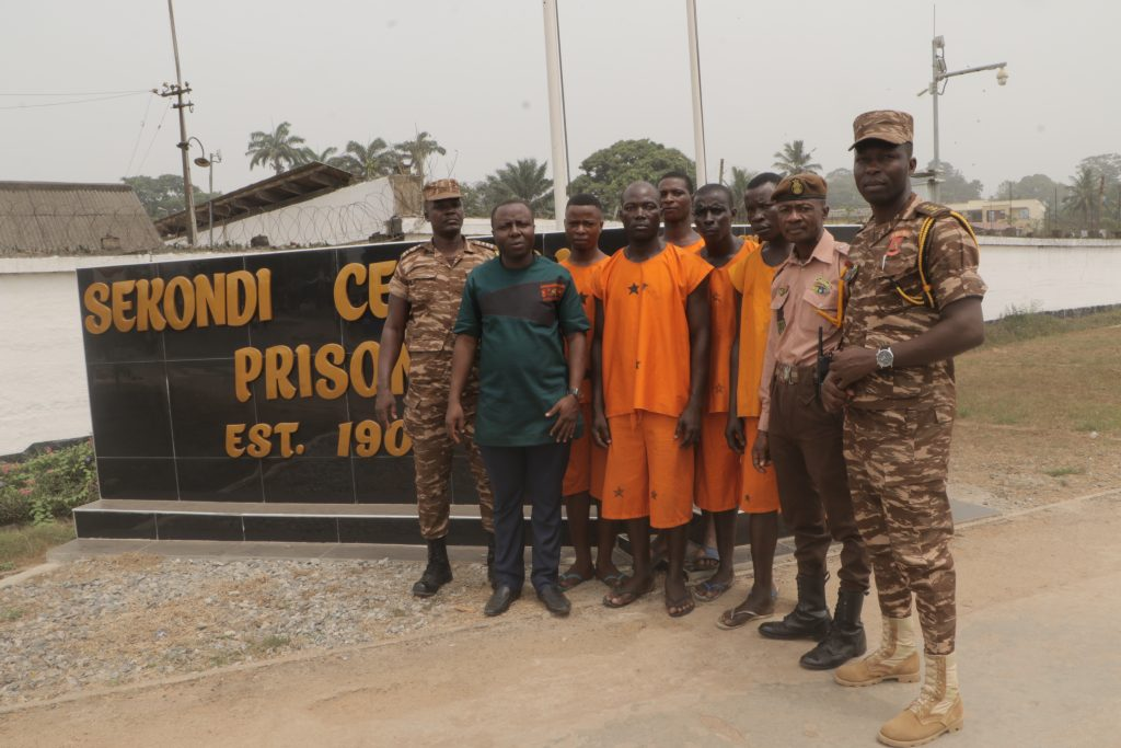 Crime Check Foundation CCF has released five inmates of the Sekondi Local Prison. The inmates were imprisoned due to their inability to pay court fines imposed on them, after the courts found them guilty of committing petty offences.