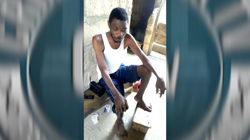 Visually Impaired and diabetic Akwasi Nsiah receives support from Crime Check Foundation CCF to undergo advance medical care.