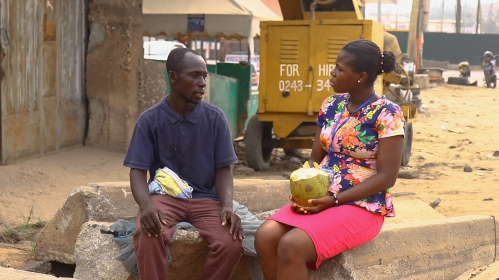 42year old coconut seller, Kwao Issah makes the street of Accra his home while struggling to survive.
