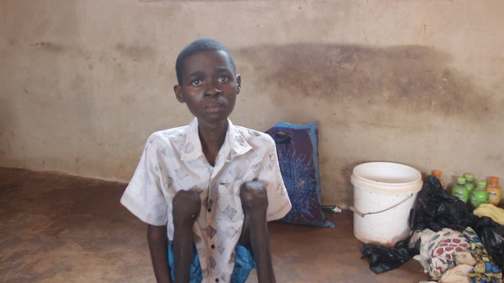 """""""My brother had a terrible dream in which he was hit in the leg with a stick. Not long after that, he has become paralyzed"""": these are the words of Boakye Joseph, the senior brother of two physically challenged orphans."""