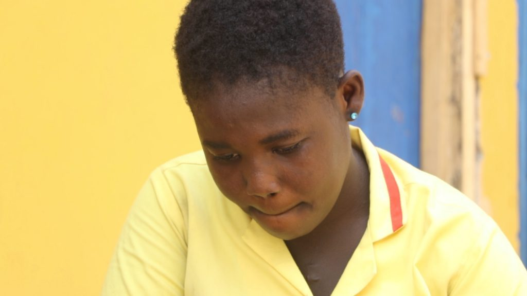 14year old Dorothy Appiah has been left deformed and made to struggle for her life after she was allegedly shot in the head by a police officer at Sowutuom in Accra, Ghana.