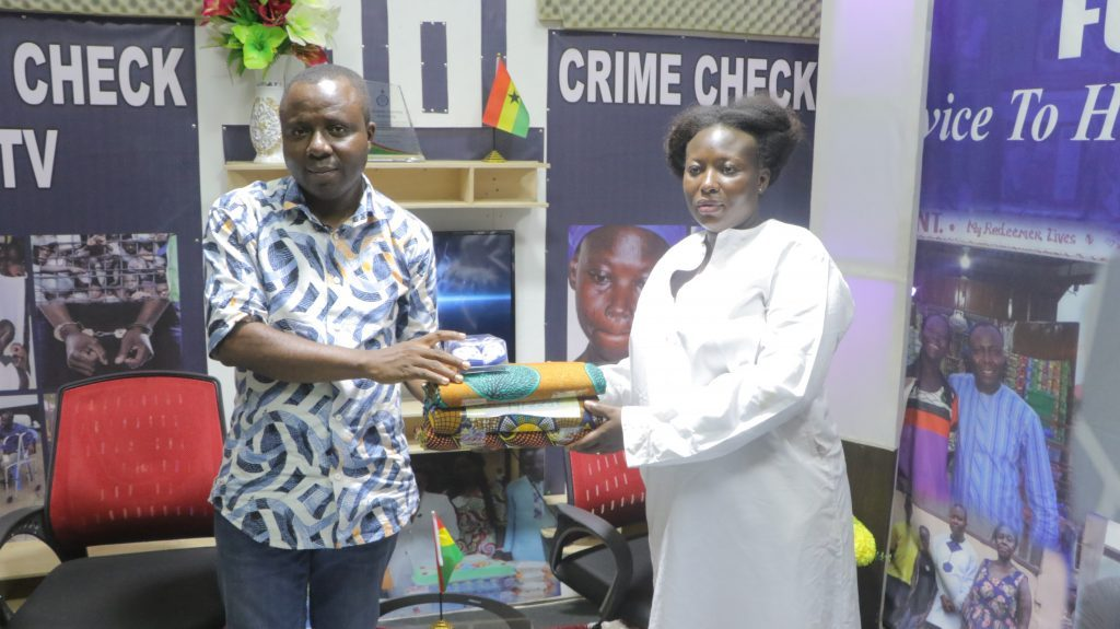 Crime Check Foundation CCF has supported pregnant commercial sex worker, Gifty Nketia as all hopes of keeping her unborn child was lost.