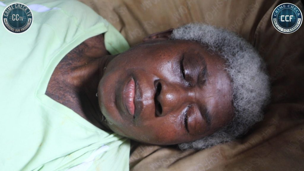 The tears of 37year old Seth Safi have been wiped away as Crime Check Foundation CCF supports him to financially take care of his bedridden mother.