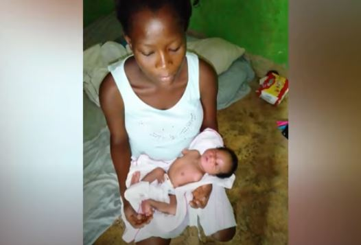 MOTHER COLLAPSES AFTER DELIVERING BABY WITHOUT HANDS