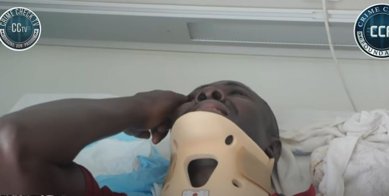 28 year old Eric Obeng Amoah could be paralyzed if he does not undergo emergency surgery