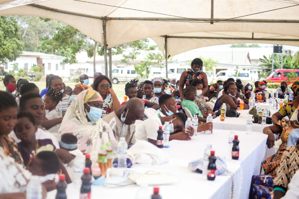 The event was to put smiles on the faces of widows, ex-convicts, vulnerable and less privileged in society.