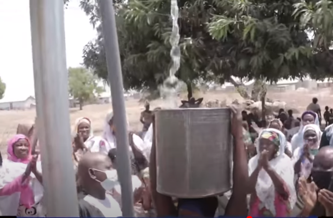 Residents of Gbayanamni in Tamale North get clean drinking water after CCF commissions mechanized borehole