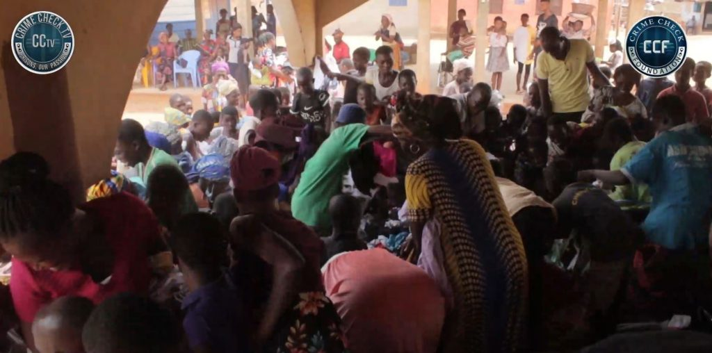 Stampede at Swedru Dahom CCF storms town to do benevolence
